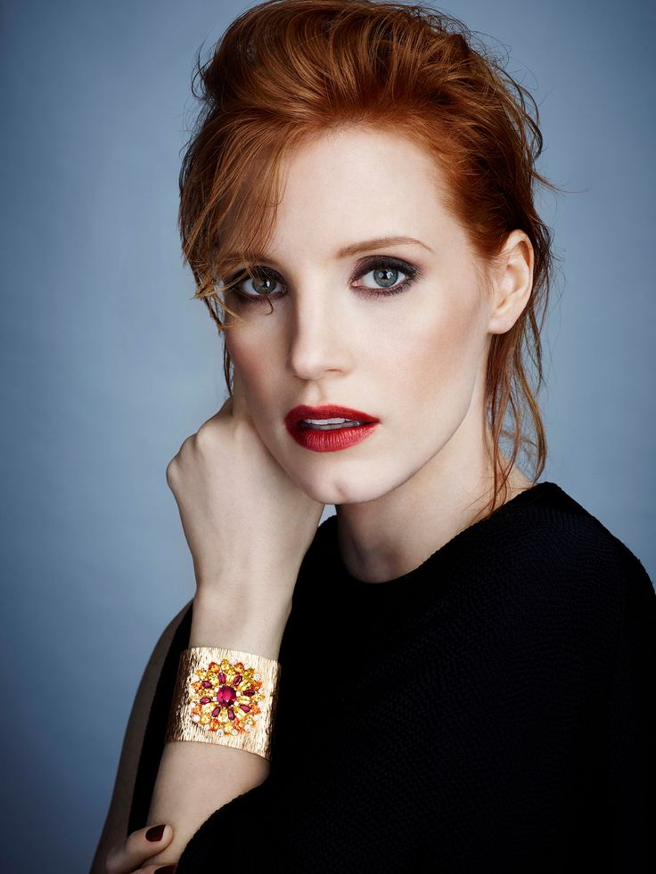 Jessica Chastain, photographed by James White for Piaget, 2015.(click the image for extremely high-res photo.)