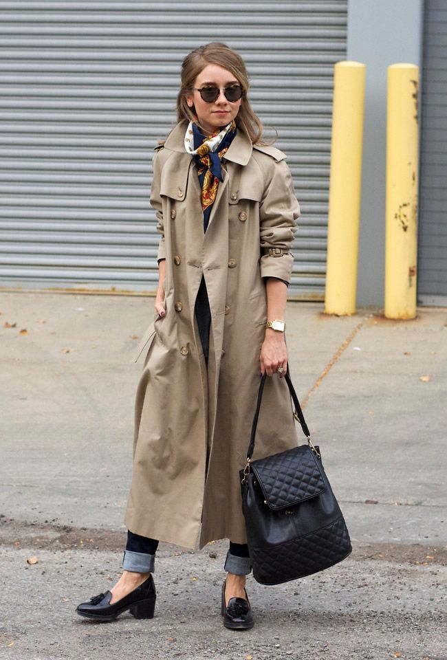 Loose Khaki Trench Coat Look - DesignerzCentral