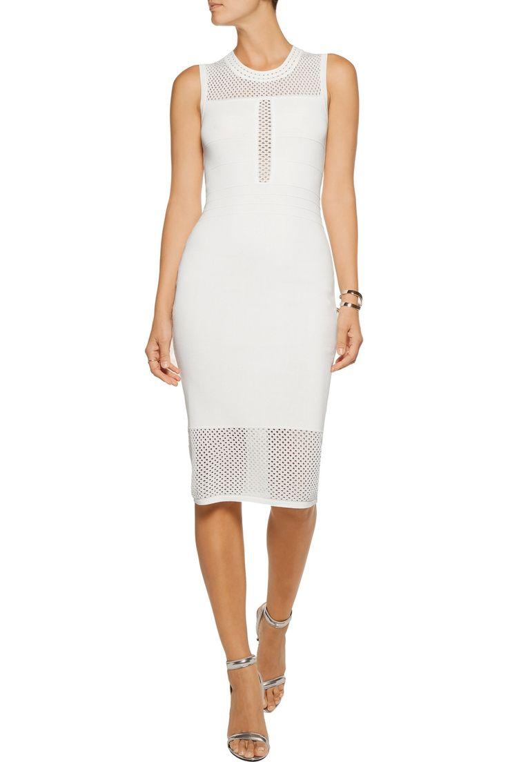 Line Open knit-paneled bandage dress