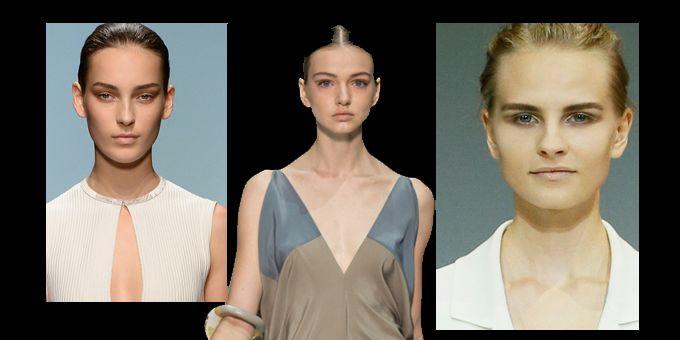 Da New York, Londra fino a Milano è il trucco naturale che domina la scena del make-up. Le sfumature soavi dei colori della terra per il colore degli occhi.http://www.sfilate.it/233796/make-up-trend-per-primavera-2015-vince-trucco-naturale