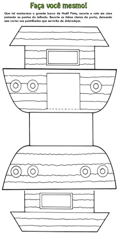 Atividade arca de no jpg 640 1251 bookmarks for Noah and the ark crafts