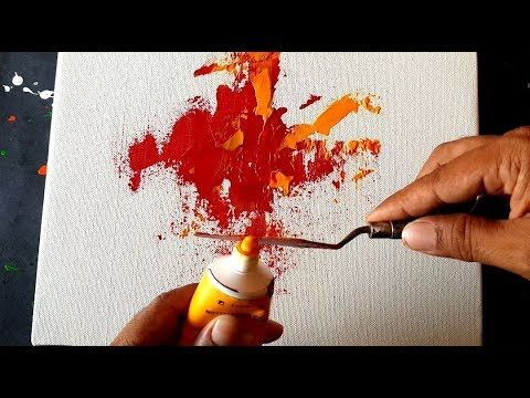Abstract Painting / Spatula and Mixed Media in Acrylic / Demo / Project 365 Days / # 023 – YouTube