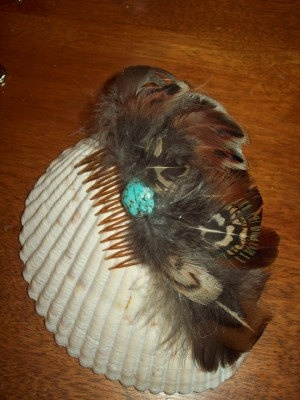Pheasant Feather Southwestern  Hair Comb by TribalHorseDesigns, $5.99