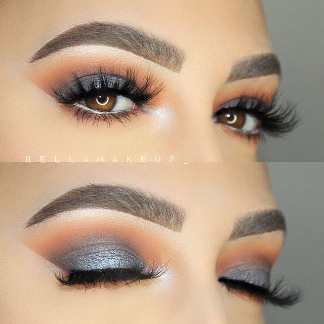 """@makeupgeekcosmetics single eyeshadows.. """"Whimsical """" eyeshadow on the brow bone, """"Chickadee"""" in the crease. """"Morocco"""" to blend the crease """"Cocoa Bear"""" and """"Corrupt"""" to add depth. on the lid I used """"Houdini"""" and ABH MoonChild glow kit """"Blue Ice"""" on the center of the lid and inner tear duct.."""