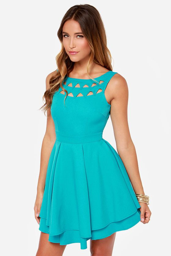 Turquoise Party Dresses for Juniors