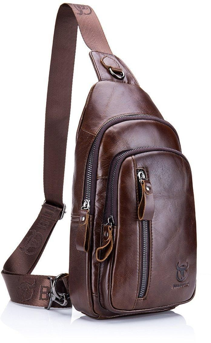 cd0ae827f Sling Bag, Charminer Leather Chest Bag Crossbody Shoulder Business Backpack  Outdoor Daypack | مصر | سوق