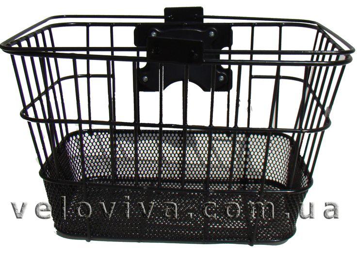 Велосипедная корзина чёрная быстросъёмная Крепление на руль Нагрузка: 5 кг https://veloviva.com.ua/catalog/basket/basket-black/