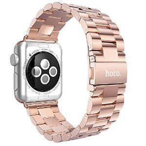 Amazon.com: HOCO® Original Stainless Steel Strap Buckle + Adapter for Apple Watch Band [3 Pointer Edition] (ROSE 38mm): Cell Phones & Accessories