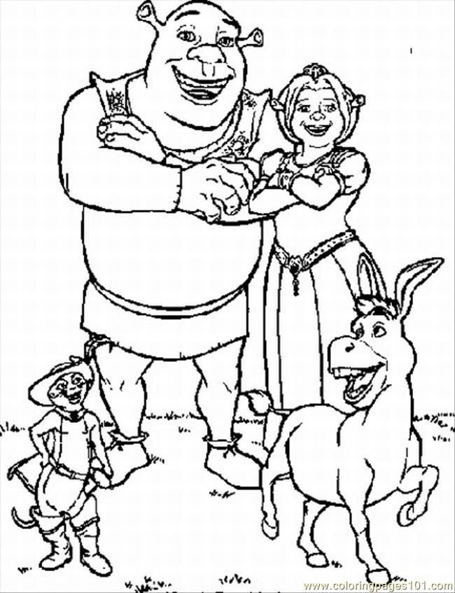 schreak coloring pages free - photo#11