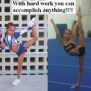 gabbi butler...she went from a little girl with little flexibility to the Human Pretzel(: my role model