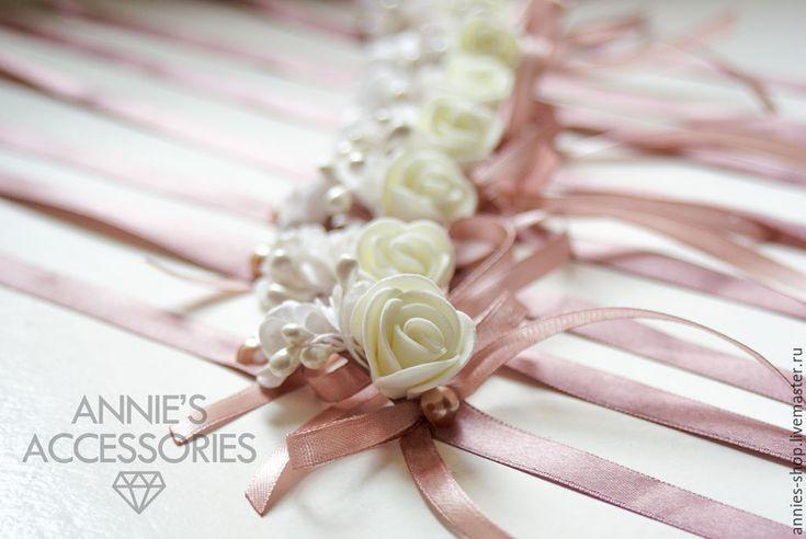 Купить Браслеты для подружек невесты - коричневый, лаванда, браслет, браслеты для подружек, свадьба, свадебные аксессуары