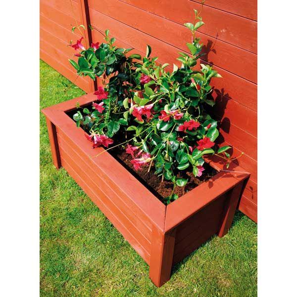 Jardinière en bois FSC Matignon 104 litres Jardipolys - Maison Facile : www.maison-facile.com