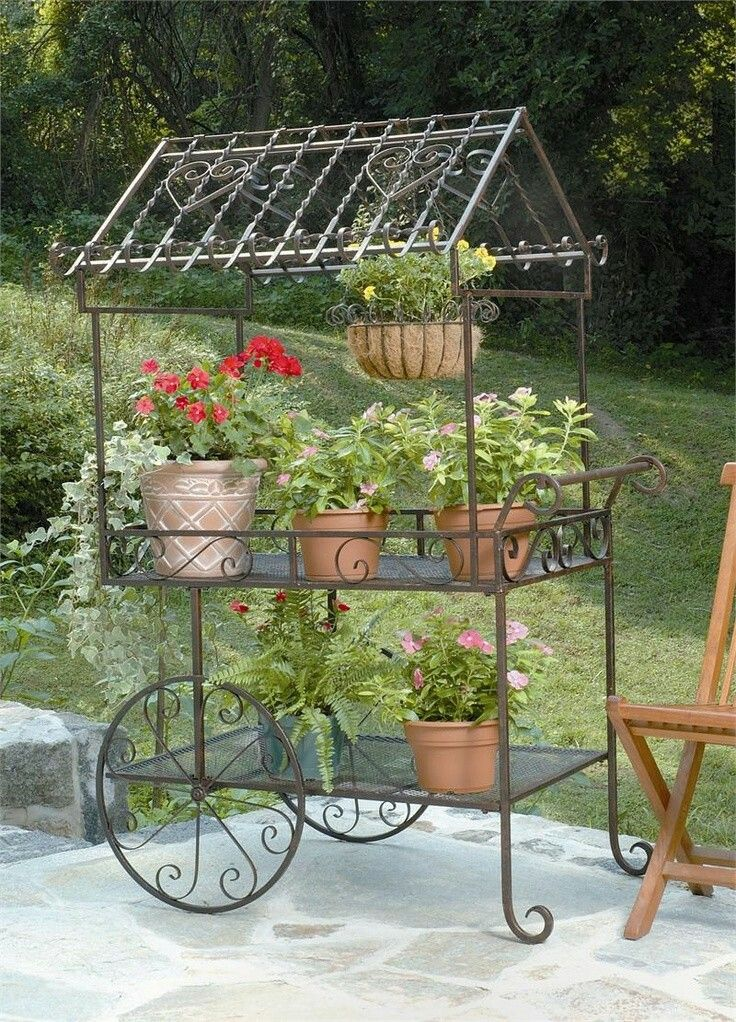 9 Best Vintage Wrought Iron Plant Stands Images On