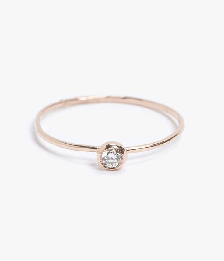Azalea 14k Rose Gold Seed Ring