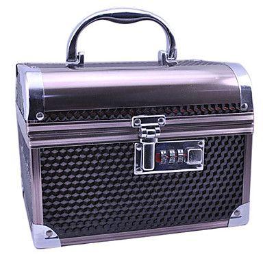 Aluminium Alloy Double-deck Lockable Elegant 20*15*15cm Cosmetic Box