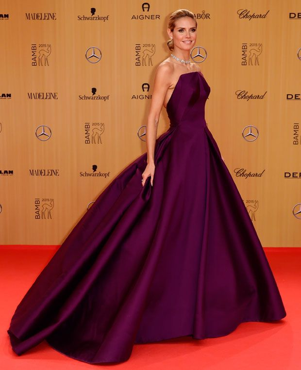 Heidi Klum in Zac Posen at the 2015 Bambi Awards
