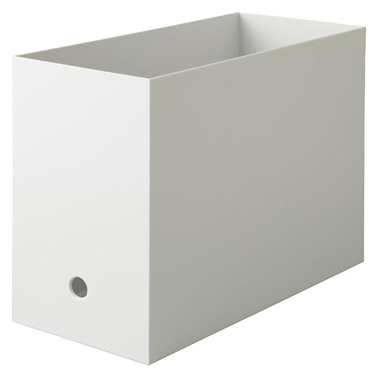 ポリプロピレンファイルボックス・スタンダードタイプ・ワイド・a4用ホワイトグレー 約幅15 215 奥行32 215 高さ24cm