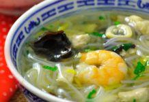 Soupe chinoise au poulet et crevettes au Thermomix