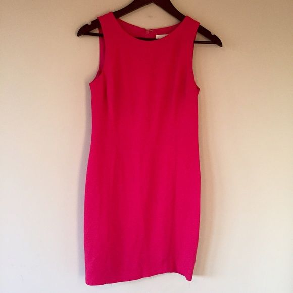 Vintage Pink dress Casual Corner petite dress. True size 4 petite. I am 5'7 and 130lbs and it goes right above my knee. Looks great with a black cardigan, statement necklace, and black heels! Dresses Midi