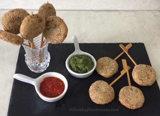 Shobha's Food Mazaa: POTATO PINWHEEL LOLLIPOPS