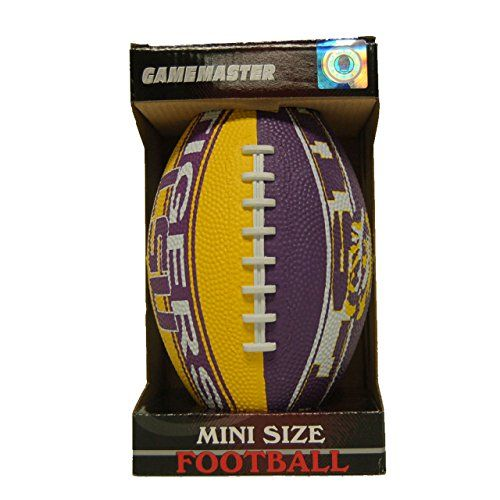 LSU Tigers Rubber Mini Football  //Price: $ & FREE Shipping //     #sports #sport #active #fit #football #soccer #basketball #ball #gametime   #fun #game #games #crowd #fans #play #playing #player #field #green #grass #score   #goal #action #kick #throw #pass #win #winning
