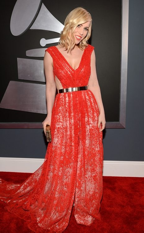 Natasha Bedingfield wearing Emerson at the 2013 Grammy Awards.