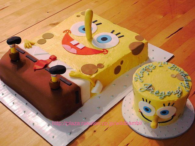 Spongebob birthday cake and smash cake   Flickr - Photo Sharing!