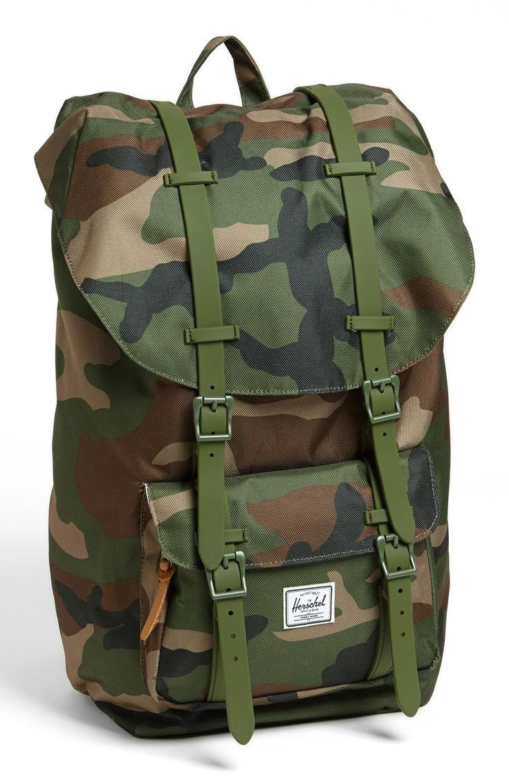 Camo Herschel backpack. #mensfashion #military
