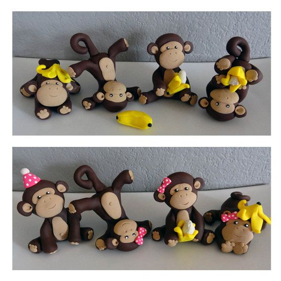 Custom Monkey Cake Topper for Birthday or Baby Shower by carlyace, $49.95
