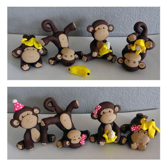 Custom Monkey Cake Topper for Birthday or Baby Shower by carlyace, $49.95