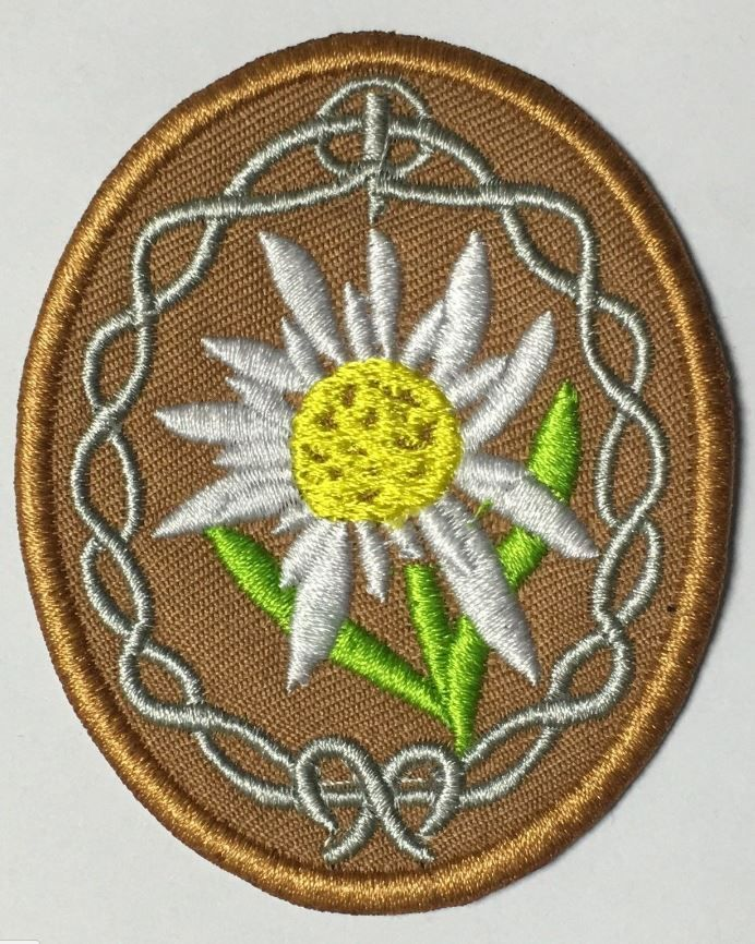 WWII GERMAN ARMY OFFICER EDELWEISS MOUNTAIN TROOPS ELITE PATCH