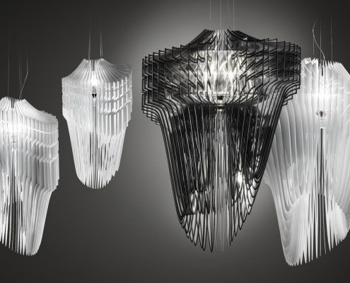Cacciavillani Lampadari Reggio Emilia.Slamp Avia Bianco Lampade Illuminazione Design