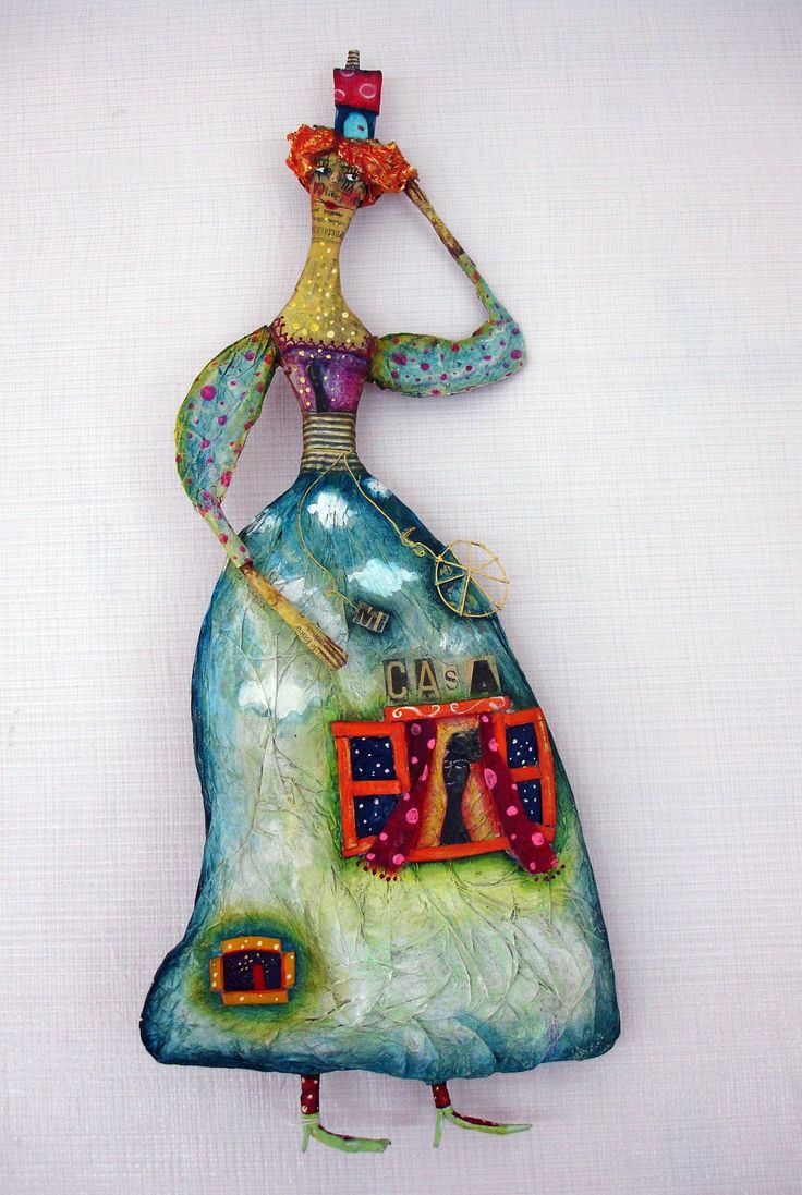 206 best images about papel mache on pinterest paper for Paper clay projects