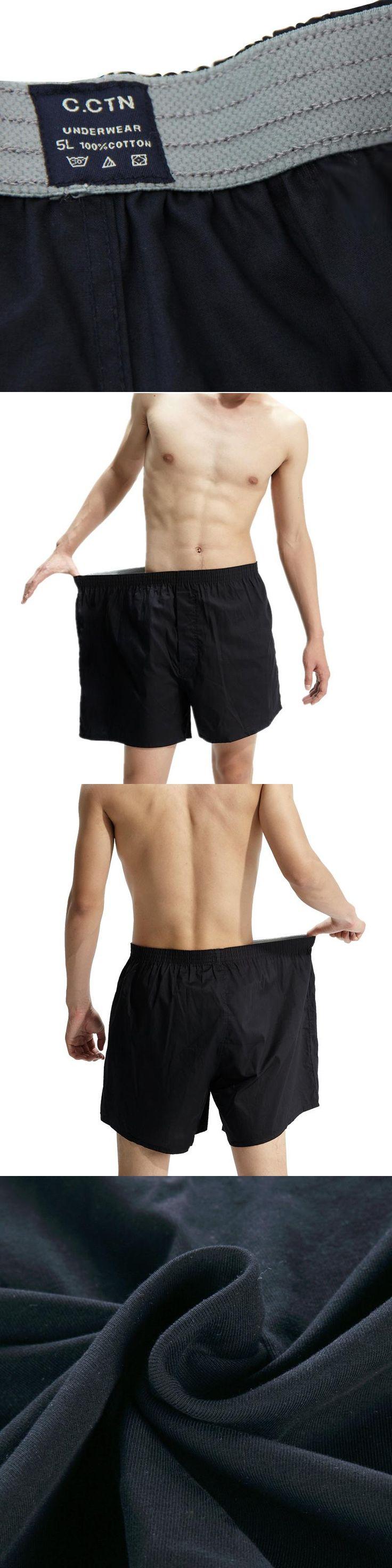 2017 Men Loungewear Men's Sleep Bottoms Bigger Plus Size Cotton Solid Casual Loose Comfortable Male Pajamas Sheer Boxer Pants