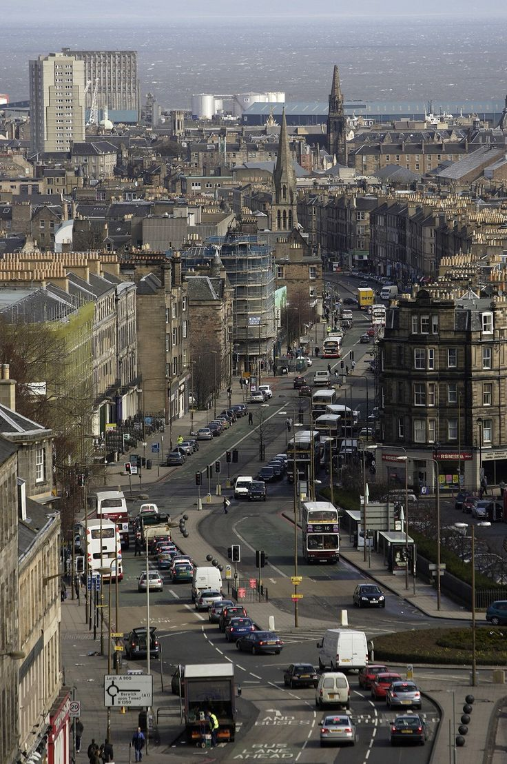 Leith Walk, originally Leith Loan, was a path between fields until Sir Alexander Leslie built a rampart to defend Edinburgh from Cromwell's invasion in 1650. In time this rampart was levelled and paved and became the main route from city to sea...