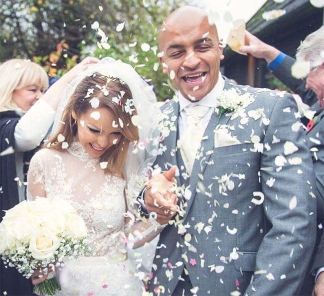 Katie Piper celebrates first wedding anniversary, shares unseen wedding photo