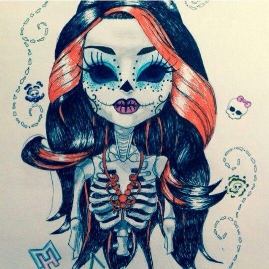 Chola Skull | Calaveras, Dia de los Muertos & Skulls | Pinterest