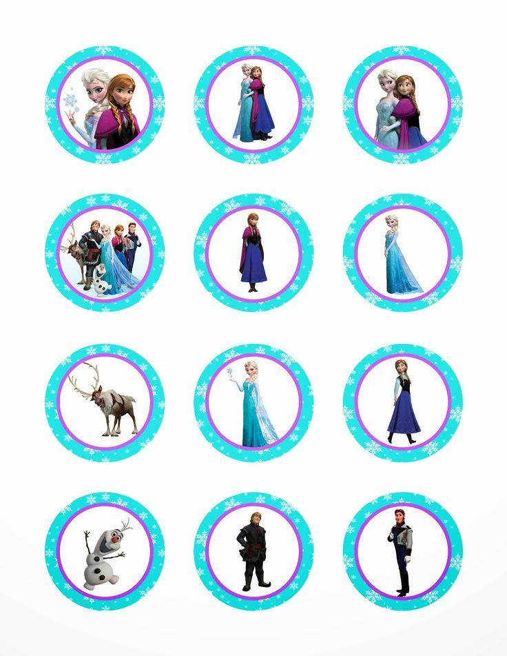 I Make I Share: Disney Frozen Printable Cupcake Toppers