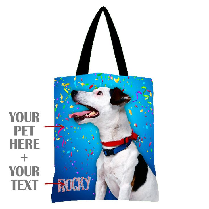 Custom Pet bag From Your Photo,bag pets personalized, pets bag, custom bag Your Photo, print my pets photo by giftsforloved on Etsy
