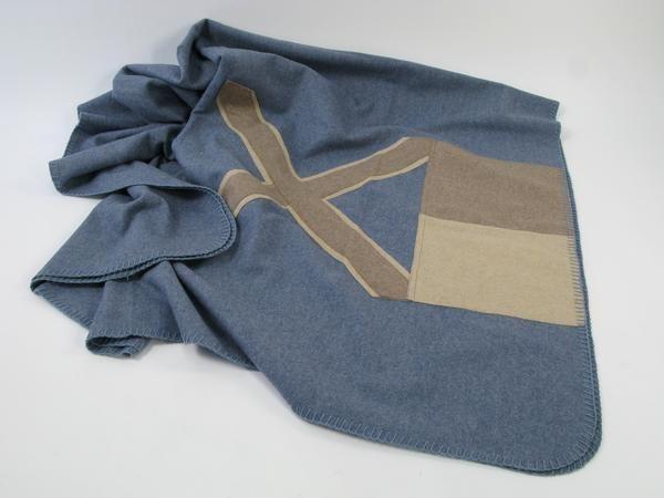 Pled Flag Wool Blue 130x170 cm
