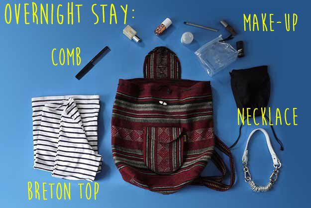 How To Pack Like A Pro For Every Occasion: Super minimal for overnight stay