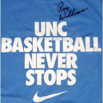 UNC- signed by Roy Williams! I want this shirt!
