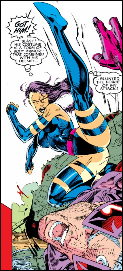 Psylocke (and Magneto) by Jim Lee from X-Men #1 (1991)