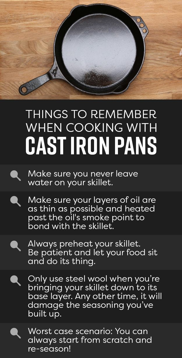 And that's it! Just follow these simple rules and these pans will last you a lifetime.