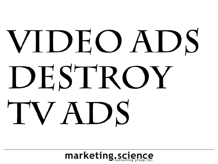 Comparative analytics for TV ads versus online video ads