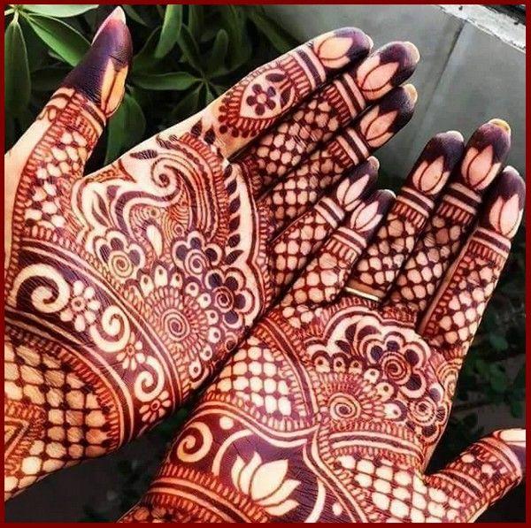 Indian Eid Mehndi Design for Full Hands 20163