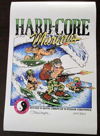 Thardcore marines poster by steve nazar