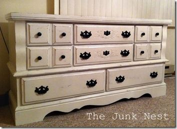 DIY Chalk Painted Dresser & recipe to make your own chalk paint