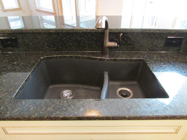 Swanstone Granite Undermount Sink Combined With Uba Tuba