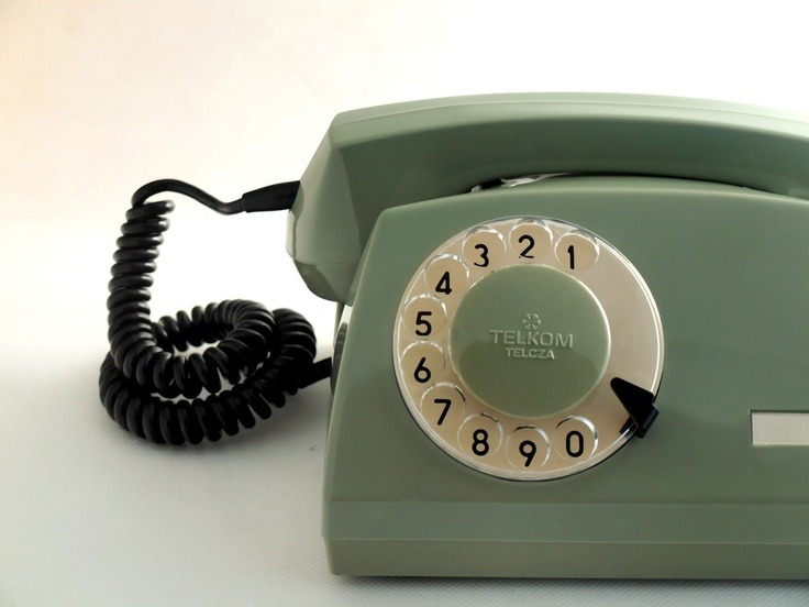 Vintage telephone made in Poland 80's.